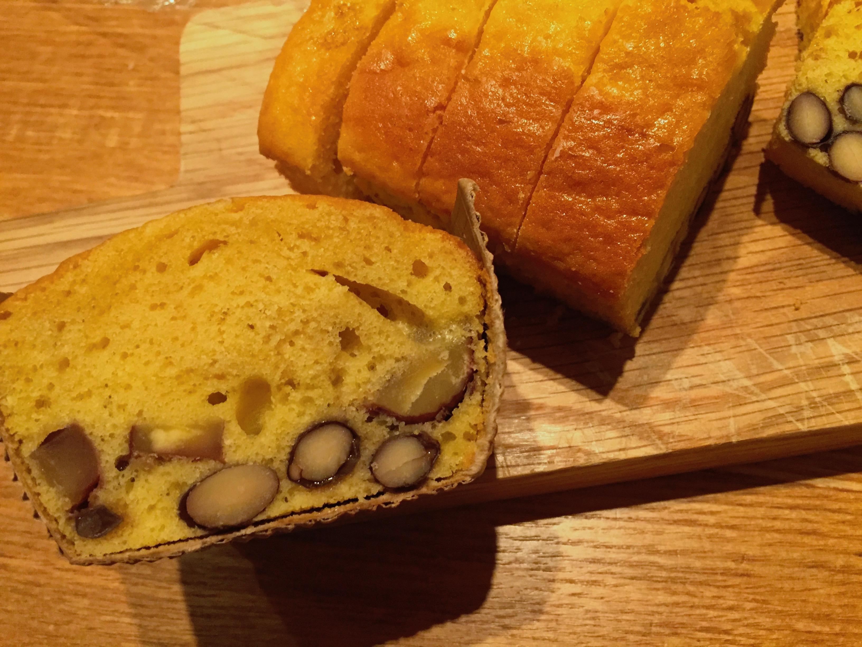節分だから豆つながり、栗と黒豆のパウンドケーキ!①