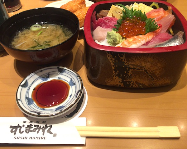 いなり寿司食べ放題付き!すしまみれランチ。