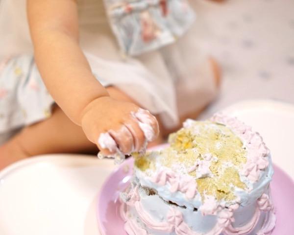 祝1歳はスマッシュケーキで!☆パーティー本番